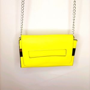 Amber rose fluorescent neon yellow crossbody bag